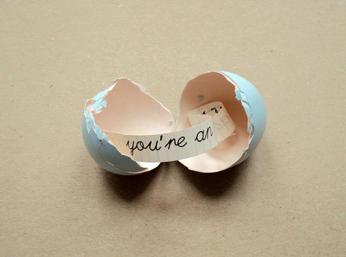 Το μήνυμα που κρύβει το αβγό!