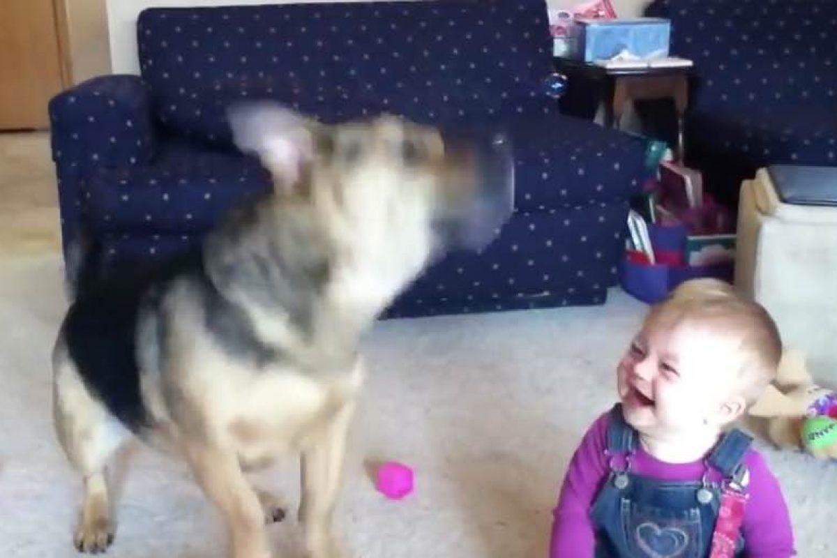 Το μωρό, ο σκύλος και οι σαπουνόφουσκες!