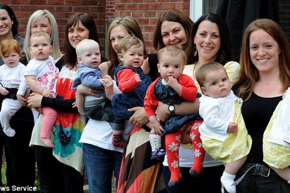 Η μαγική 7αδα: 7 γυναίκες στον ίδιο δρόμο απέκτησαν όλες μωρά σε διάστημα 7 βδομάδων!