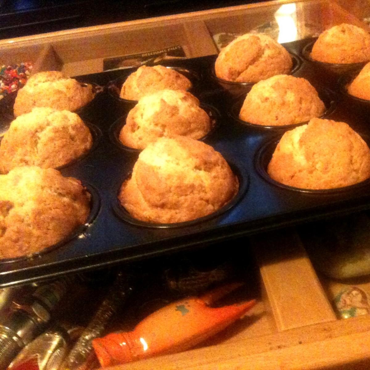 Muffins με μπανάνα! (γιαμ γιαμ!)