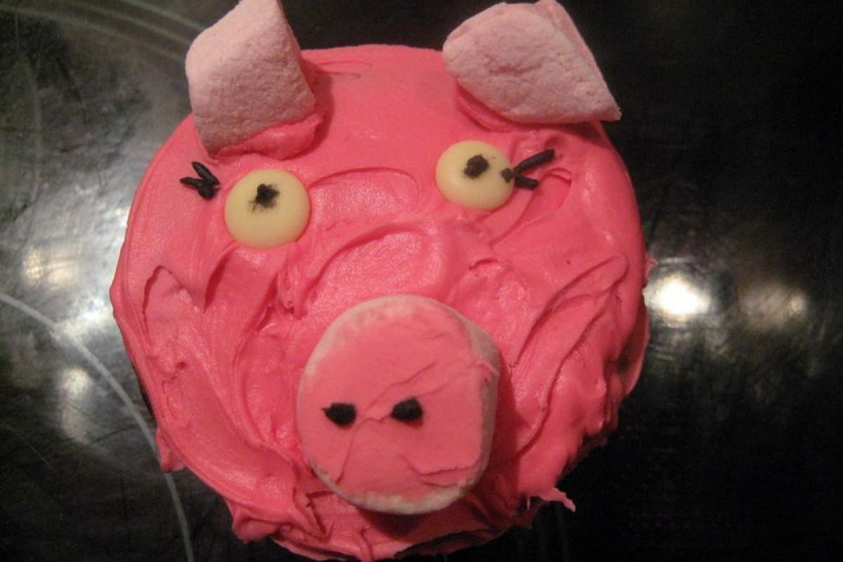 Cupcakes γουρουνάκια!
