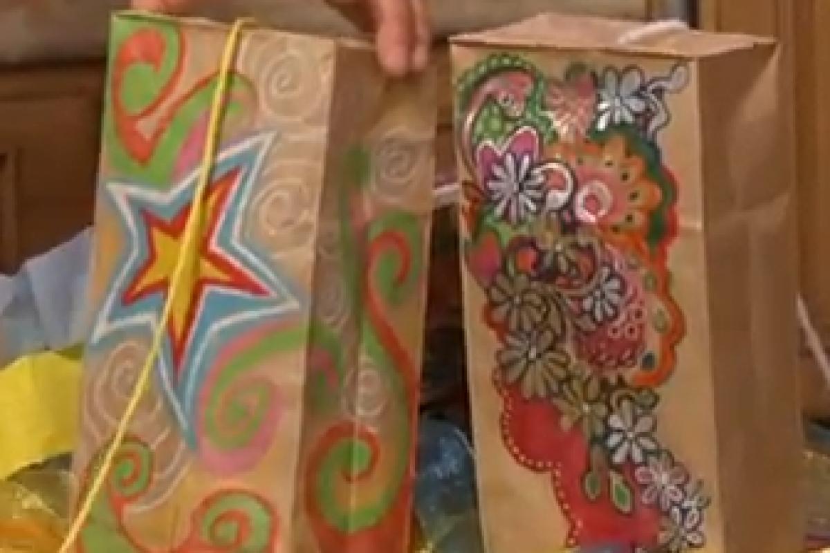 Φτιάχνουμε χαρταετό απο χάρτινη σακούλα