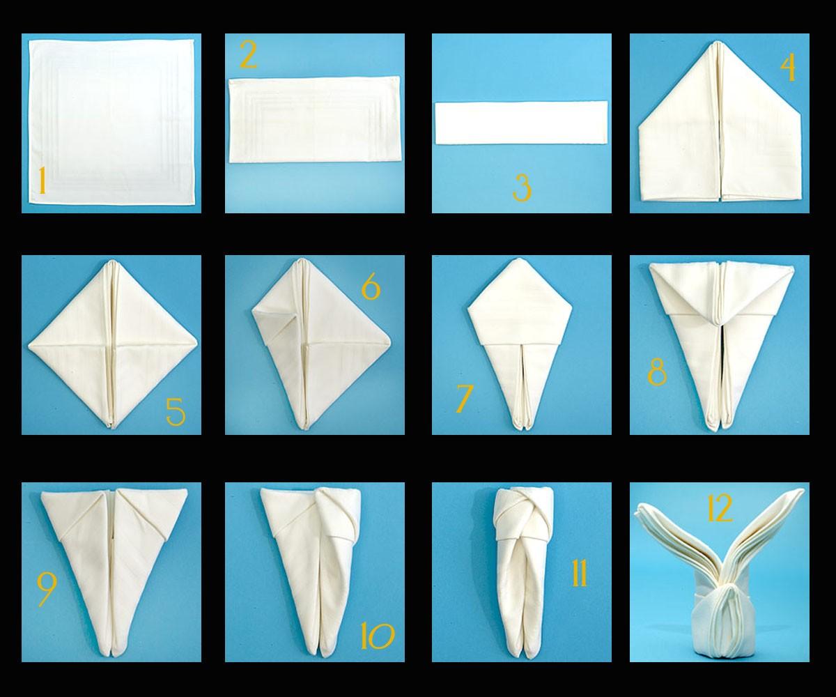 Διάφορα διπλώματα (χαρτο)πετσέτας για επίσημο τραπέζι
