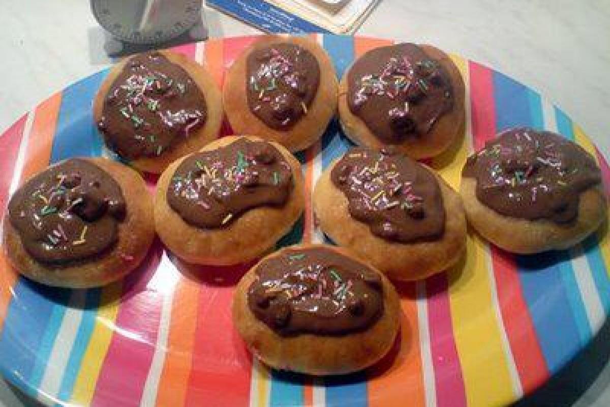 Donuts φούρνου με σοκολάτα..!