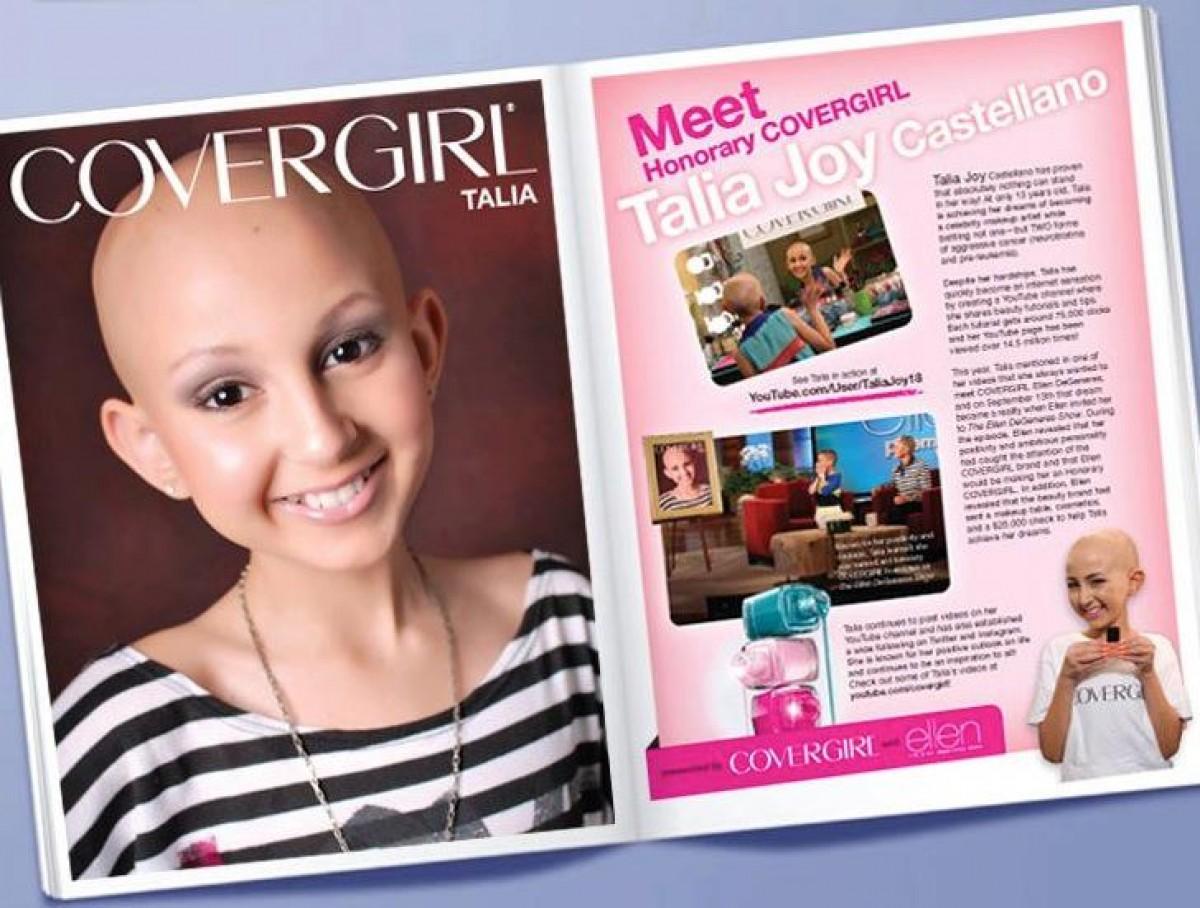 Talia Joy, το 13χρονο CoverGirl που έχασε τη μάχη με τον καρκίνο μα κέρδισε στη ζωή