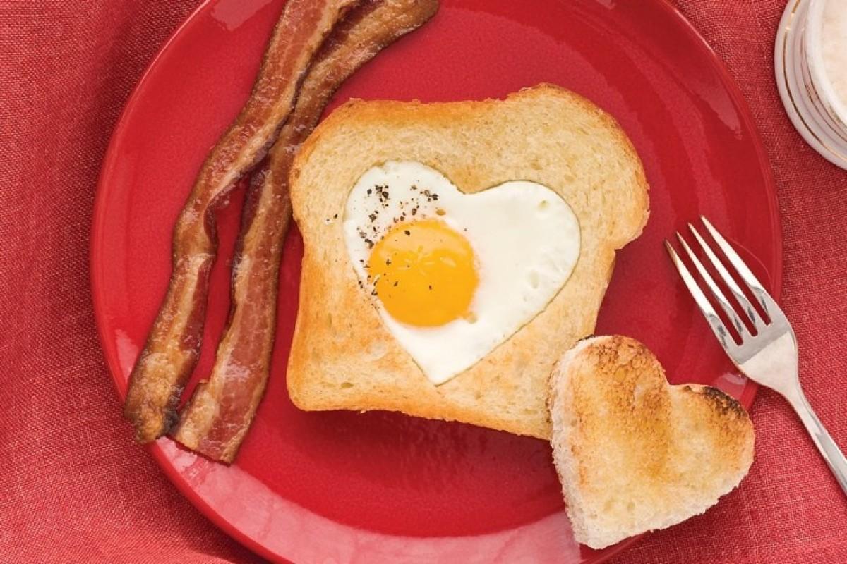 Πρωινό σε σχήμα καρδιάς!