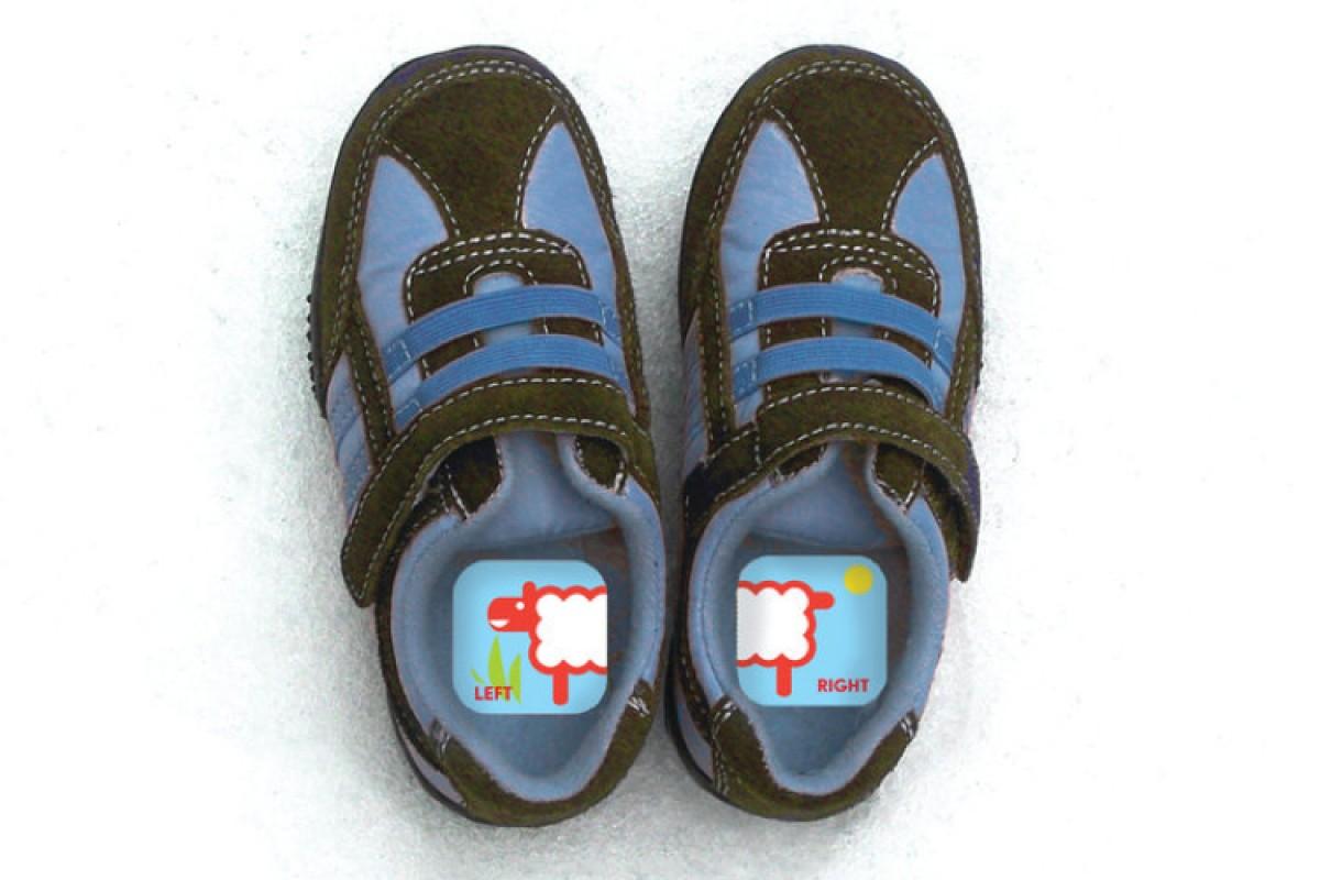 Για να μάθει να ξεχωρίζει το δεξί και το αριστερό παπούτσι