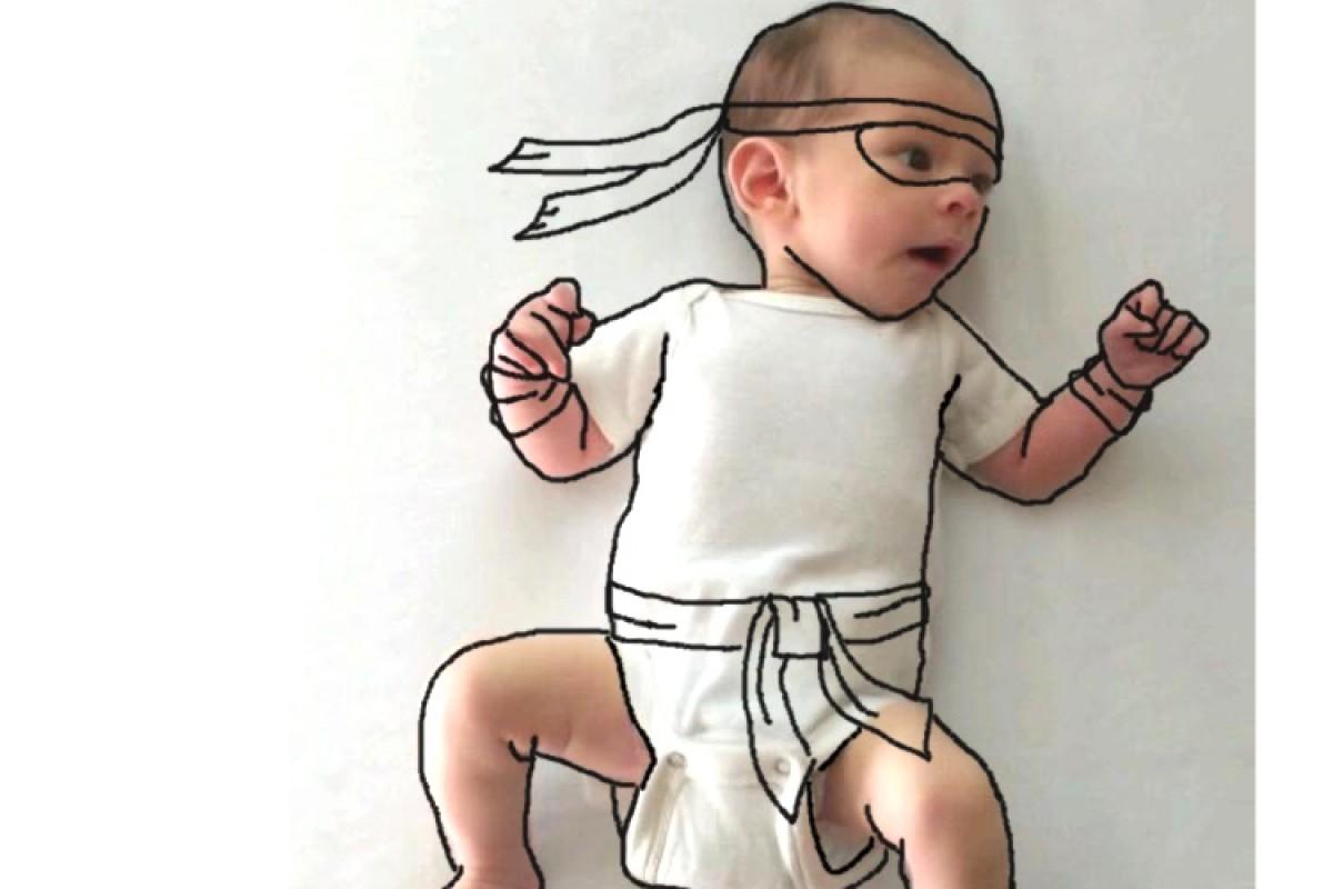 Δημιουργική μαμά μεταμορφώνει τις φωτογραφίες του μωρού της!