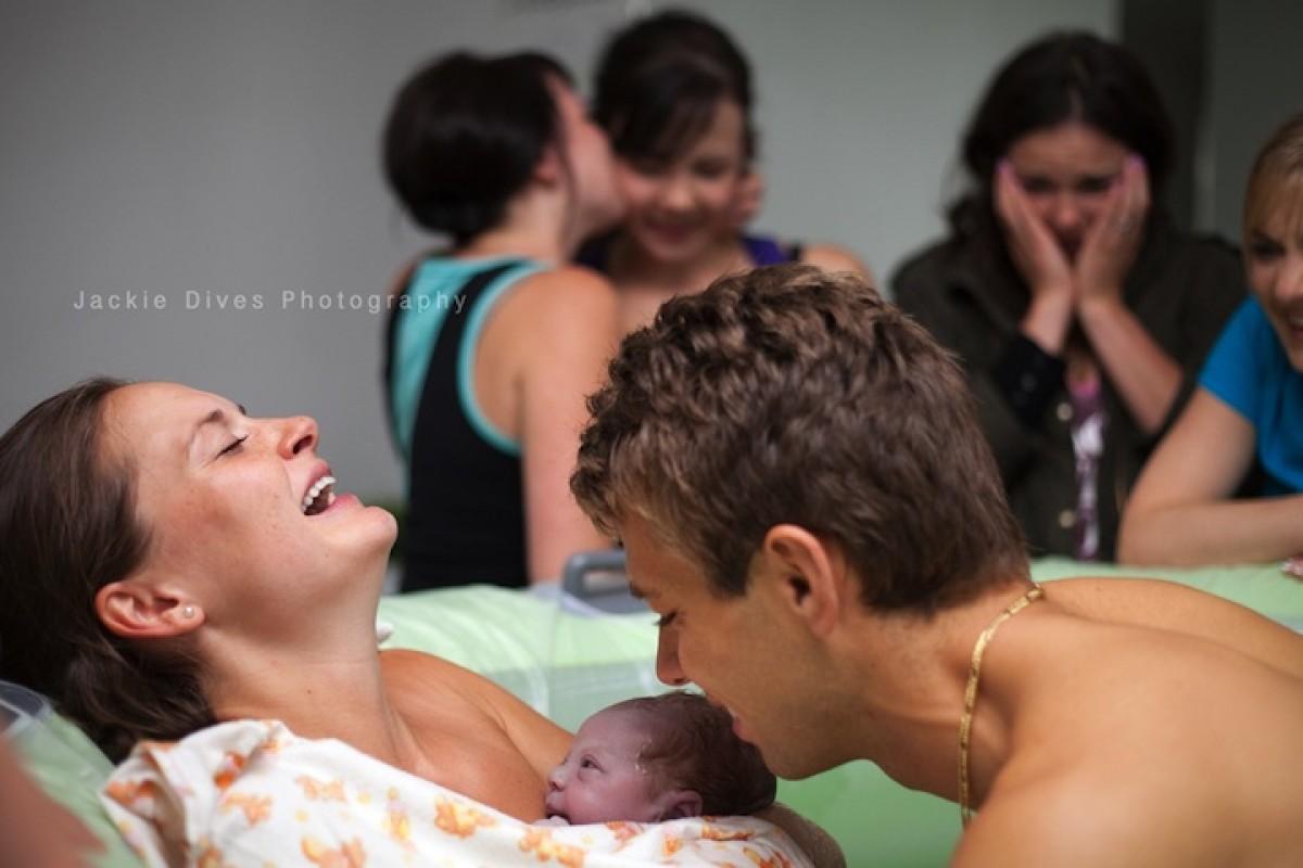Μια γέννα στο σπίτι, σε φωτογραφίες