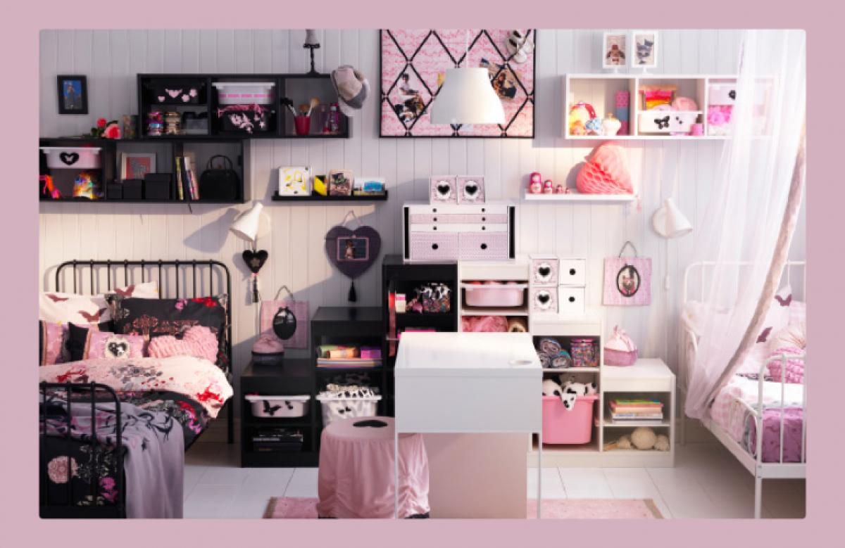 Ροζ, ρομαντικά δωμάτια (και για μεγαλύτερα κορίτσια!)