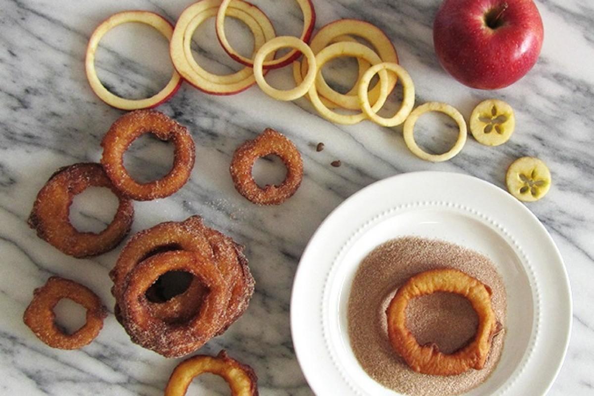 Δαχτυλίδια μήλου με κανέλα
