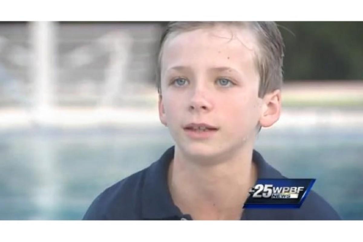 9χρονος κολυμβητής δίνει λαμπρό παράδειγμα ευγενούς άμιλλας