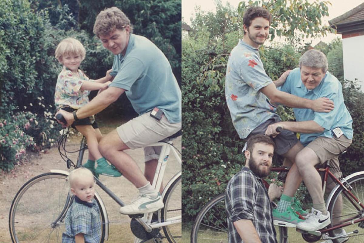 Τότε και Τώρα: Δύο αδέλφια φωτογραφίζονται ξανά όπως παιδιά