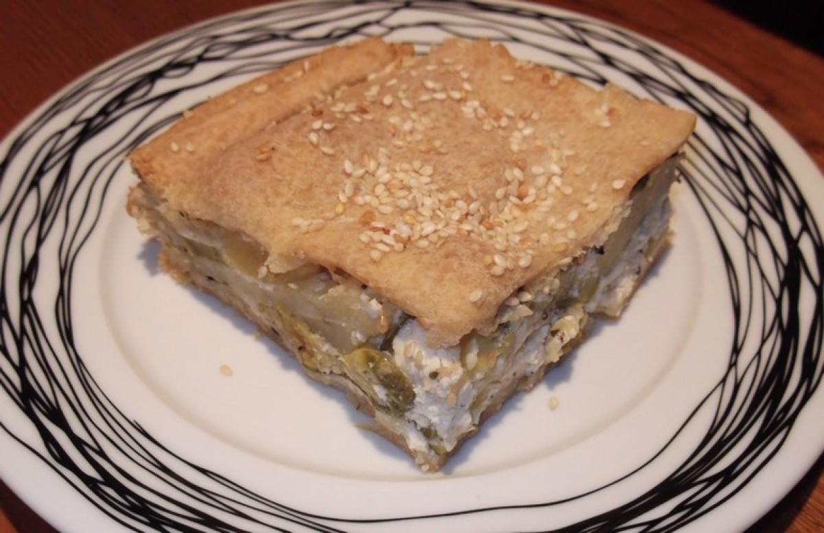 Μπουρέκι Χανιώτικο με κολοκύθι, πατάτα και ξινομυζήθρα