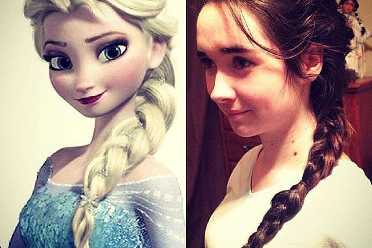 Φτιάξτε τα μαλλιά της όπως οι πριγκίπισσες του Frozen