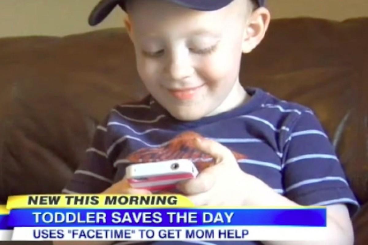 Ένας 2χρονος σώζει την τραυματισμένη μαμά του χρησιμοποιώντας το FaceTime