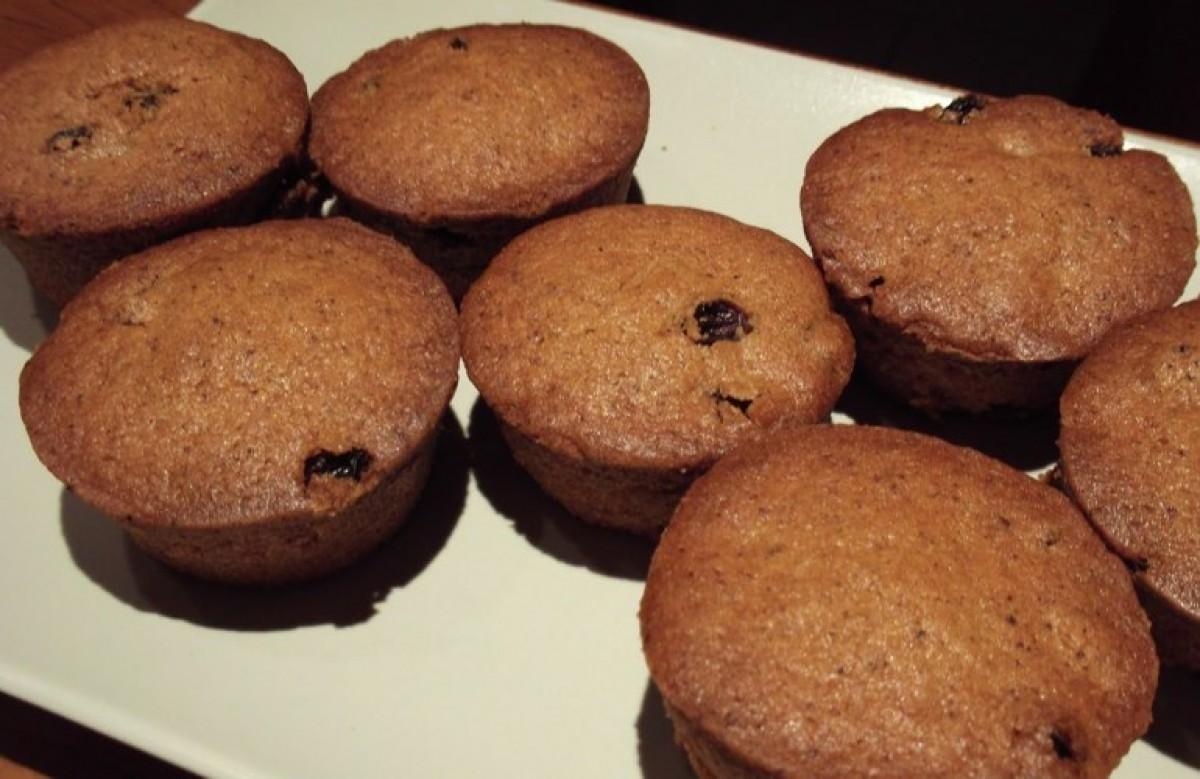 Muffins με σταφίδες (νηστίστιμη συνταγή!)