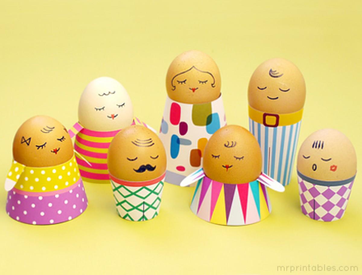 Φτιάξτε αβγουλάκια-ανθρωπάκια για το Πάσχα