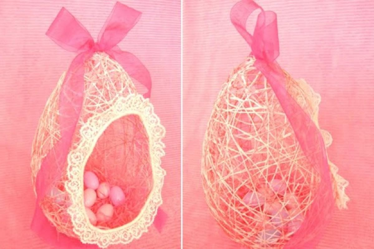 Φτιάξτε ένα πανέμορφο διακοσμητικό πασχαλινό αυγό με μπαλόνι και κλωστή!