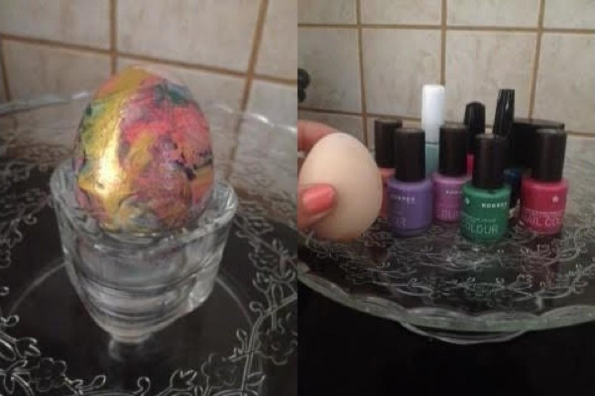Βάφουμε αυγά με τα μανό μας