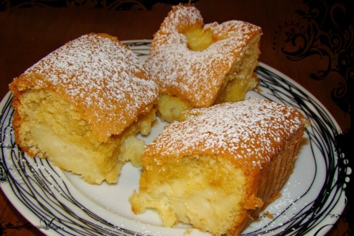 Κέικ ταψιού γεμιστό με κρέμα