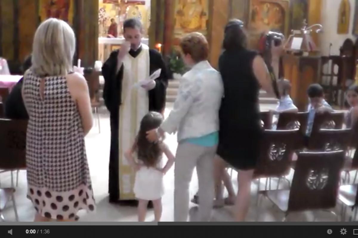 Το μωρό που δεν ήθελε να βαφτιστεί