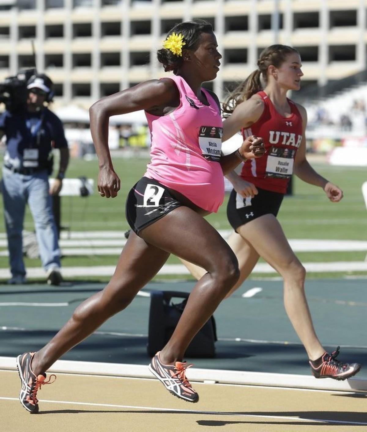 Έγκυος κι όμως τρέχει σε αγώνα 800 μέτρων