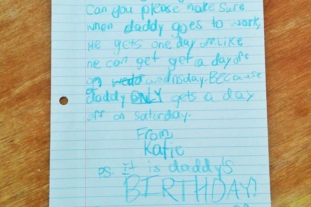 Κοριτσάκι γράφει γράμμα στη Google για να δώσει άδεια στο μπαμπά της