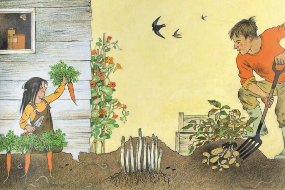 Στον λαχανόκηπο με τον παππού και τη γιαγιά