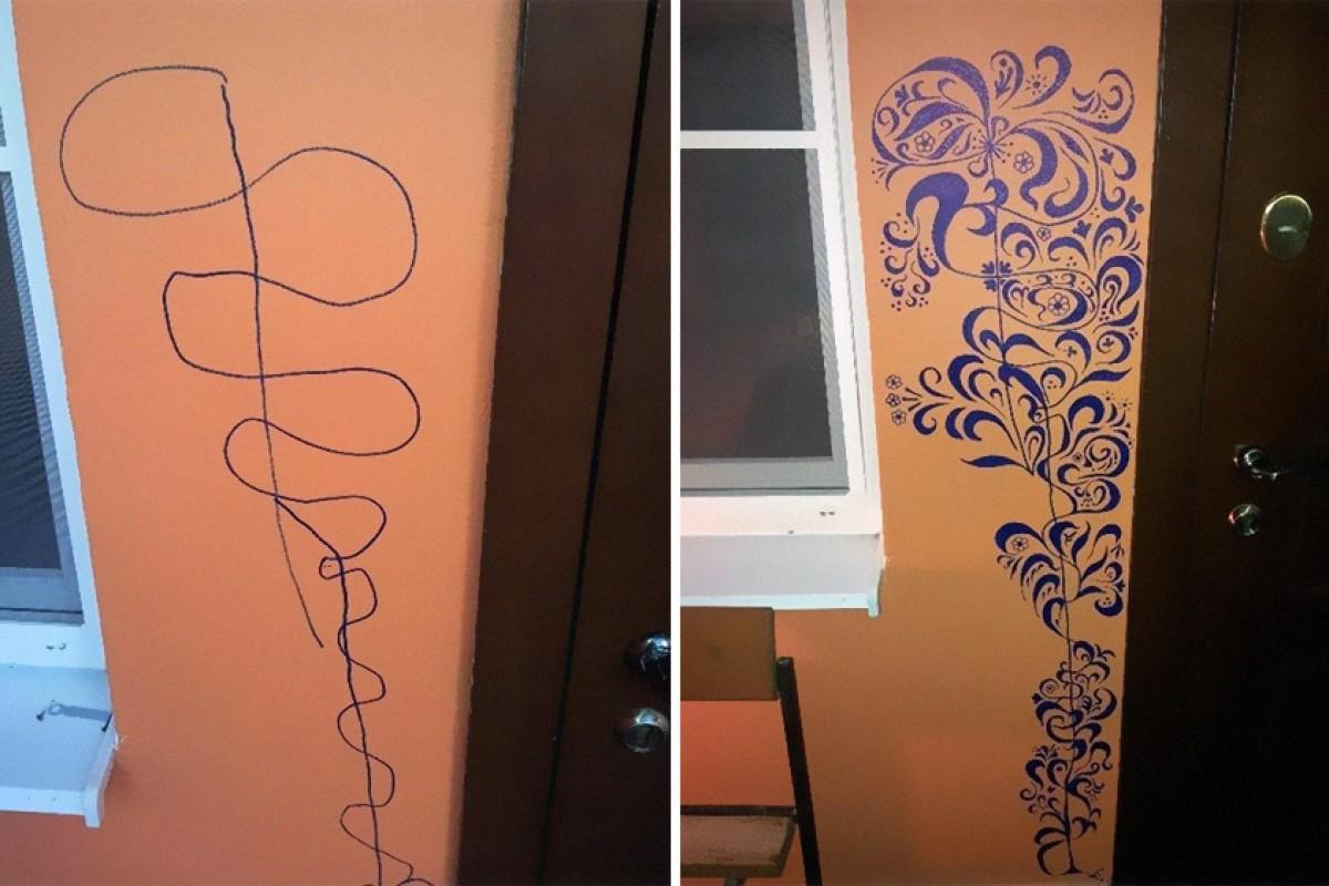 Όταν τα παιδιά ζωγραφίζουν στους τοίχους