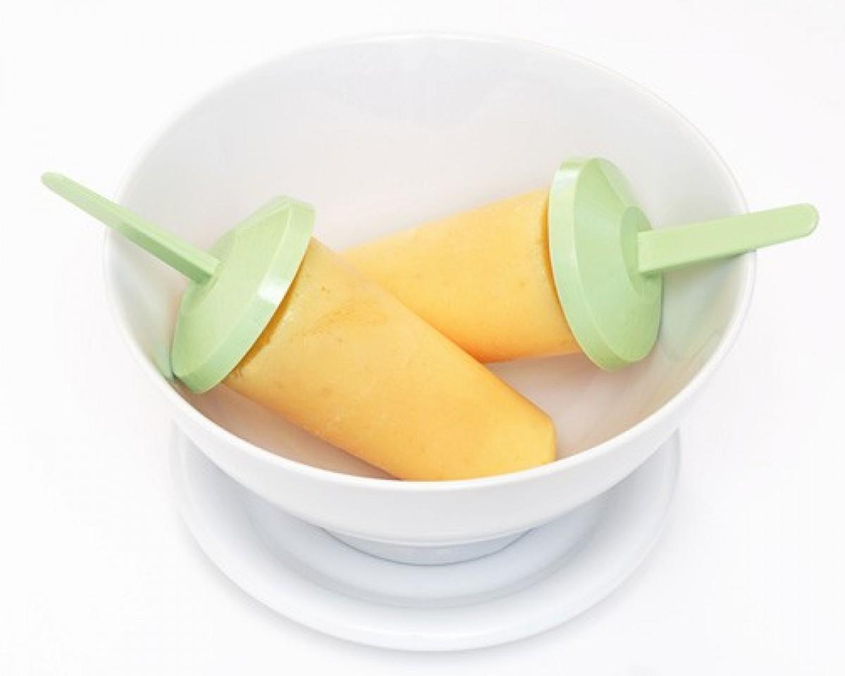 Παγωτίνια σορμπέ από πορτοκάλι και γιαούρτι