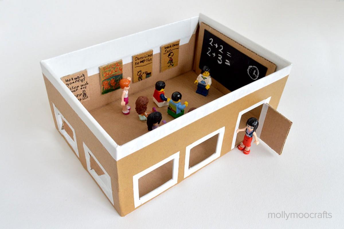 Προετοιμαστείτε για το σχολείο φτιάχνοντας ένα σχολείο από κουτί παπουτσιών