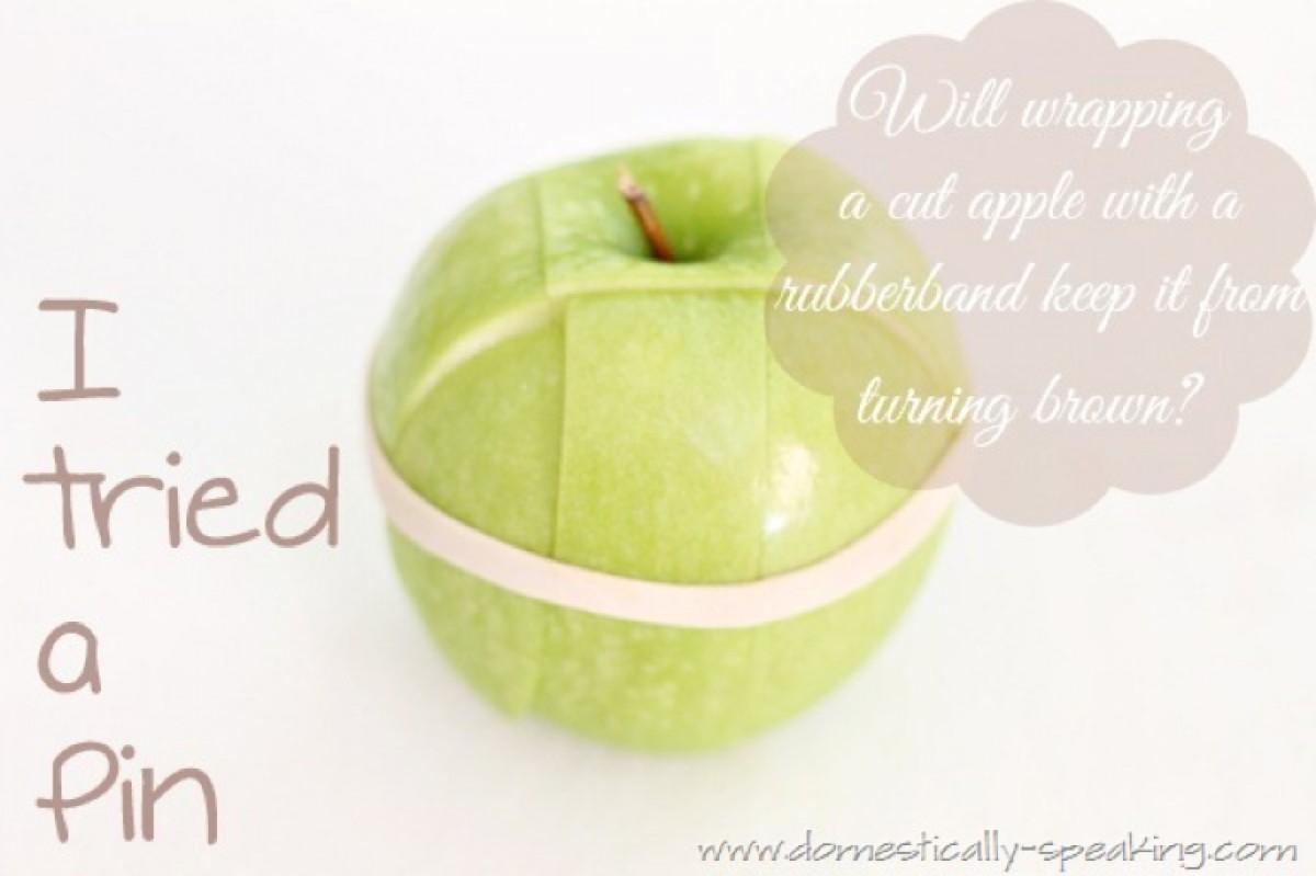 Για να μην μαυρίζει το κομμένο μήλο!