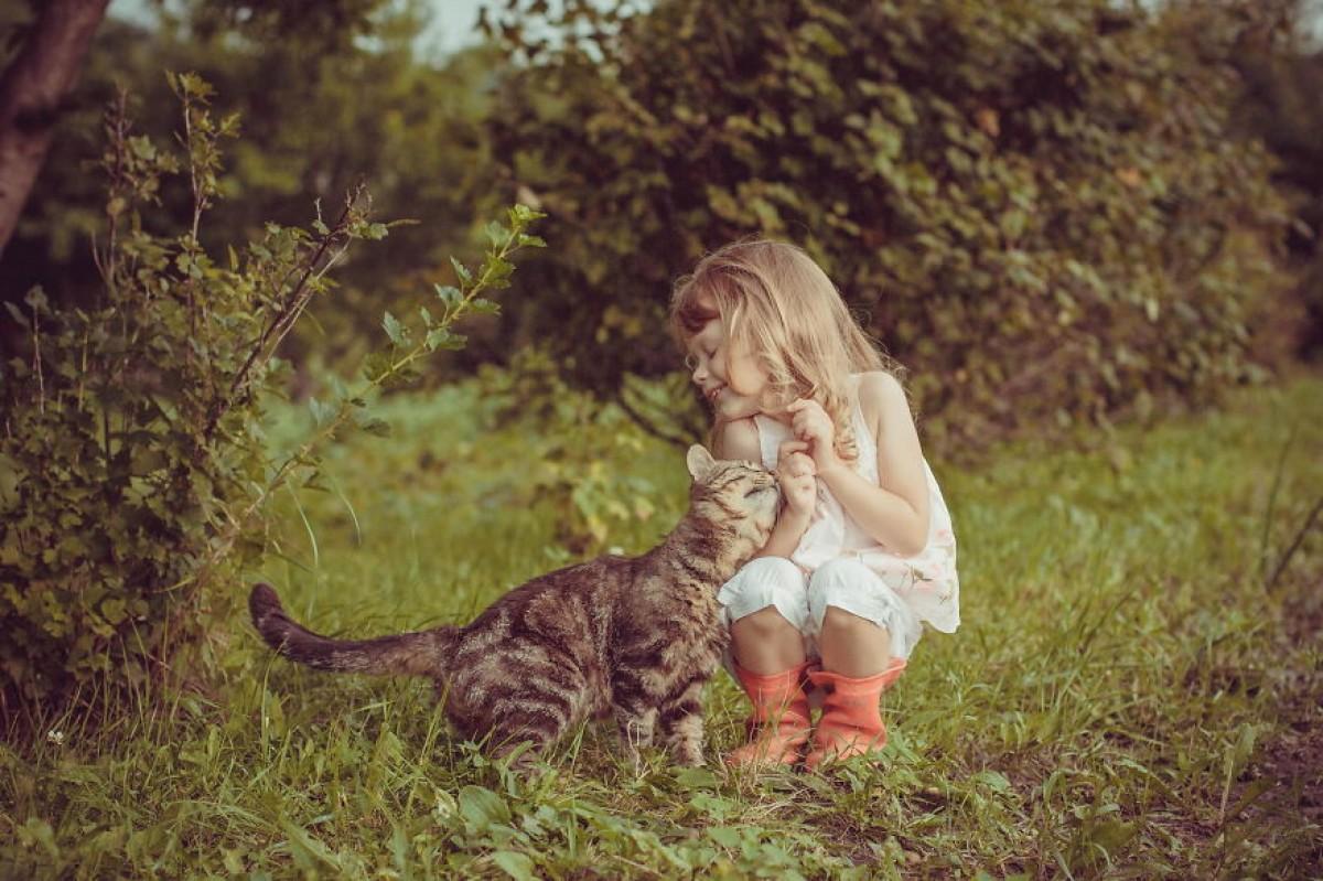 20 παιδάκια φωτογραφίζονται να παίζουν με τις γάτες τους