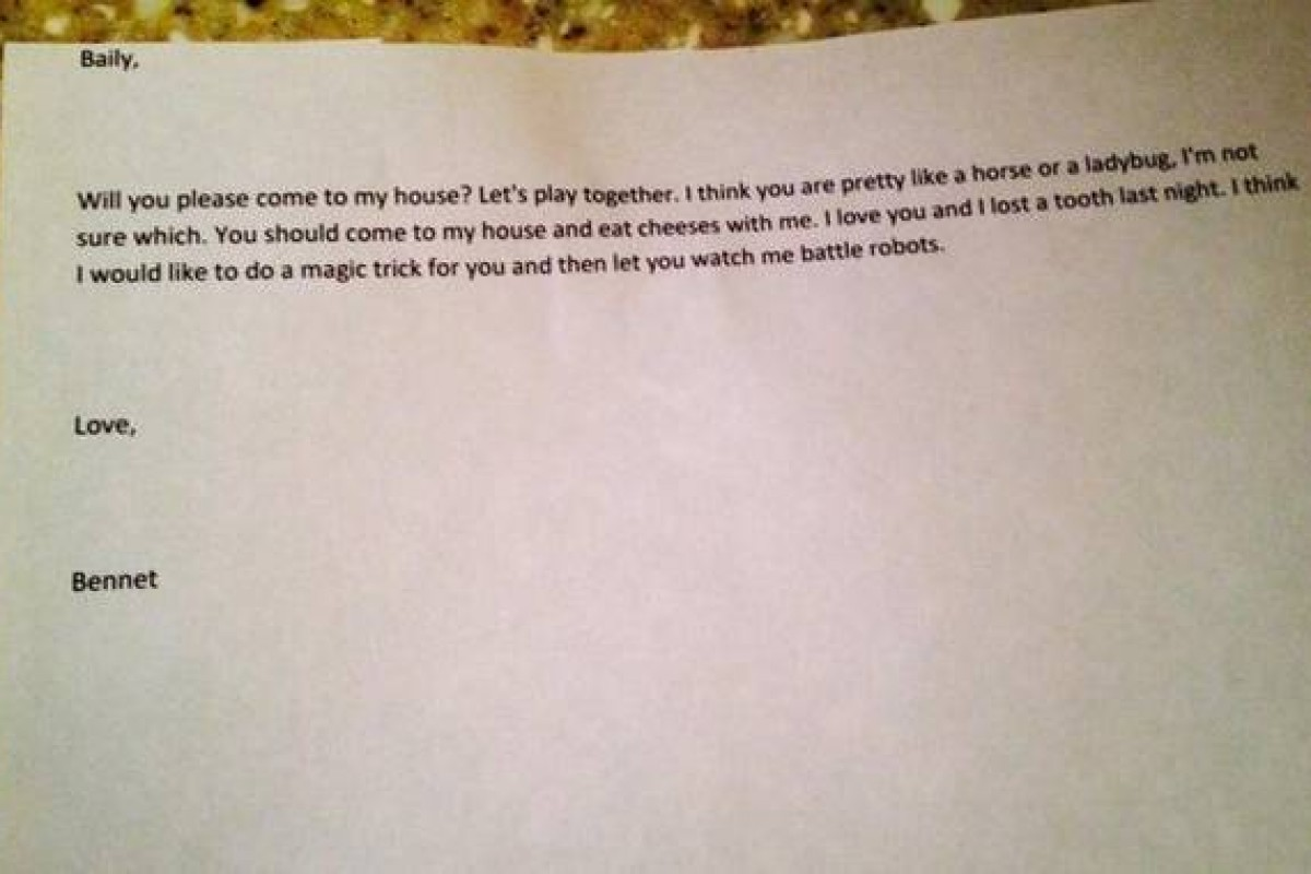 Διαβάστε το χαριτωμένο «ραβασάκι» που έδωσε αυτός ο 4χρονος στο κορίτσι που αγαπά