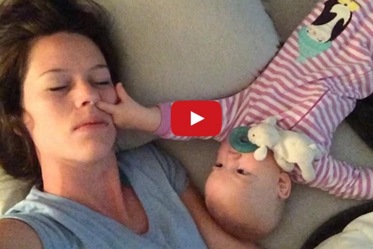 [Βίντεο] Πώς είναι τελικά να κοιμάσαι με το μωρό σου;