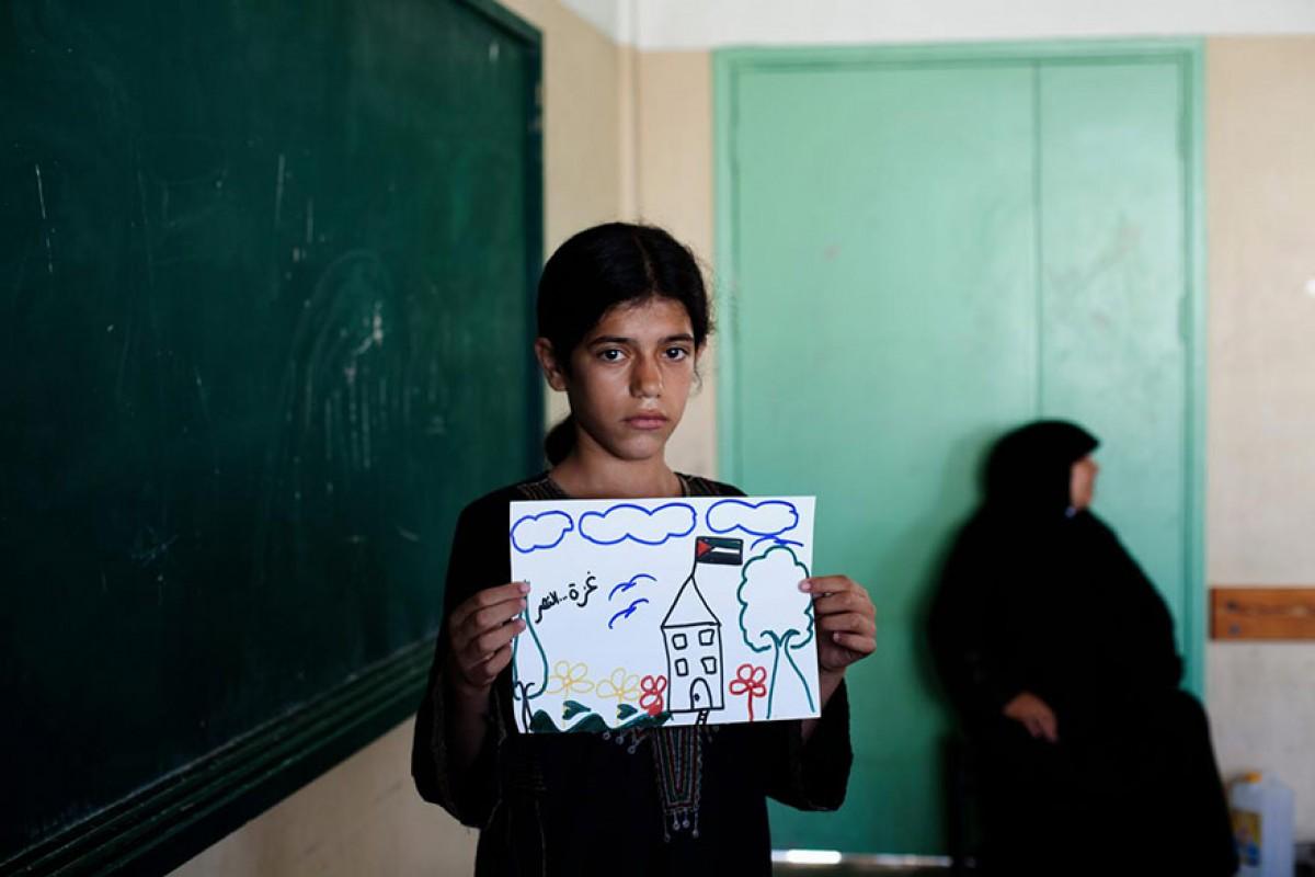 Τα παιδιά της Γάζας ζωγραφίζουν το μέλλον τους