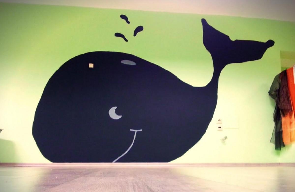 Ένα δωμάτιο με μαυροπίνακα-φάλαινα!