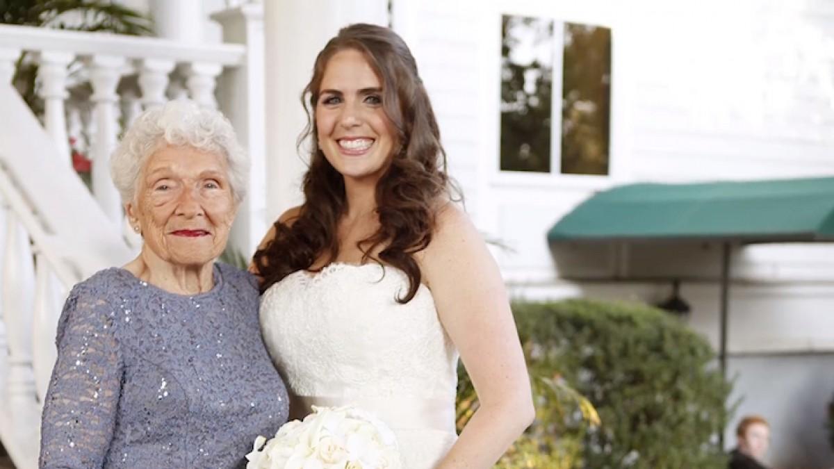 Γιαγιά ετών 95: Η καλύτερη παράνυφος για τον γάμο της εγγονής της