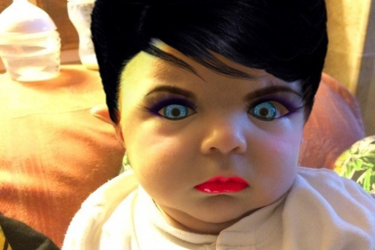 Ένα μωρό με… μεϊκάπ!