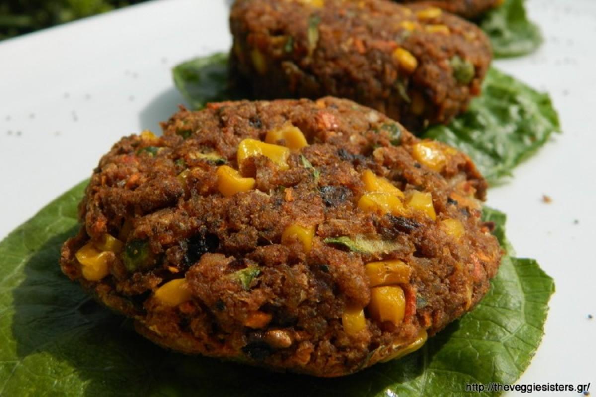 Πεντανόστιμα μπιφτέκια λαχανικών και ρυζιού