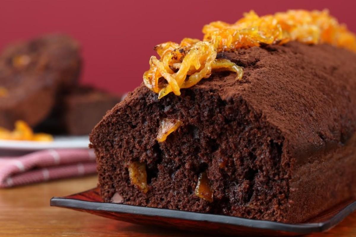 Κέικ με ταχίνι και γλυκό κουταλιού πορτοκάλι