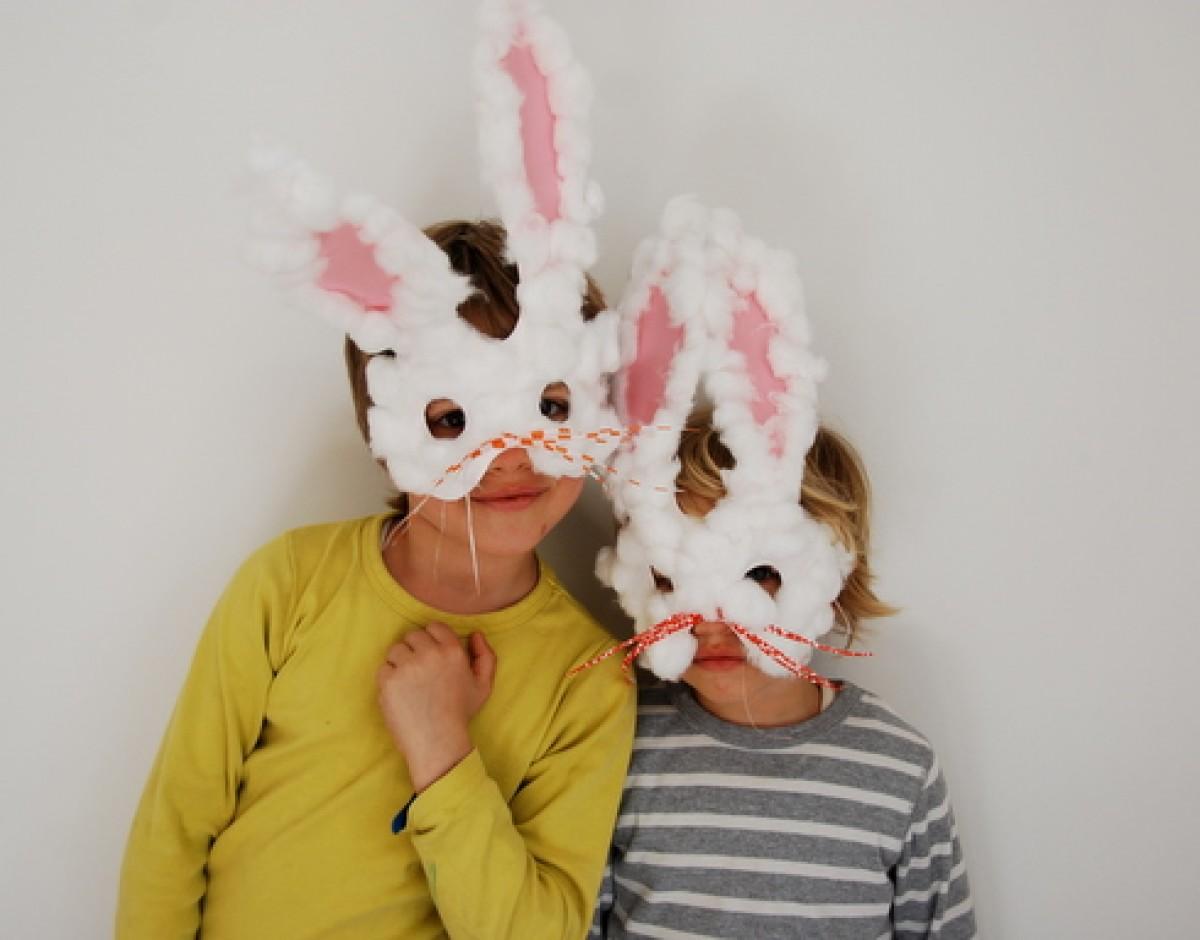 Φτιάξτε μάσκες λαγουδάκια για το Πάσχα