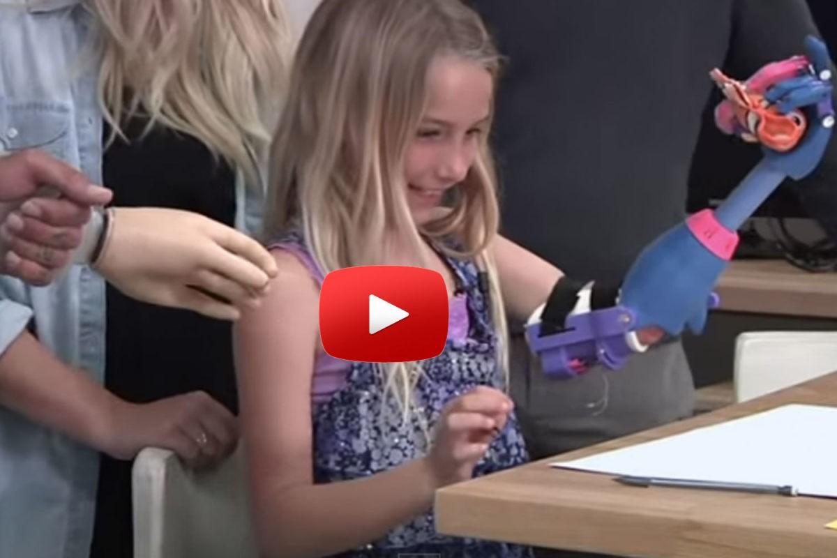 Το νέο χέρι της 7χρονης Faith βγήκε από εκτυπωτή
