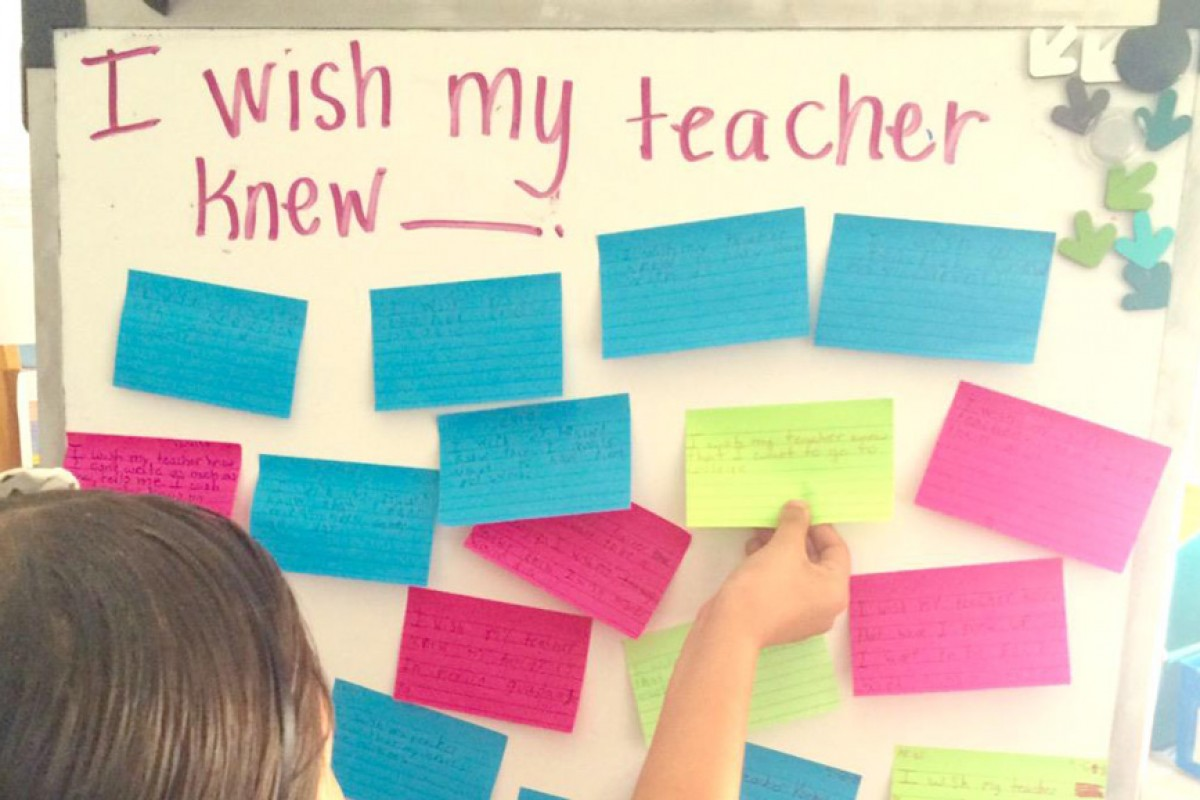 Ζήτησε από τους μαθητές της να γράψουν τι θα ήθελαν να γνωρίζει γι' αυτούς. Οι απαντήσεις την εξέπληξαν.
