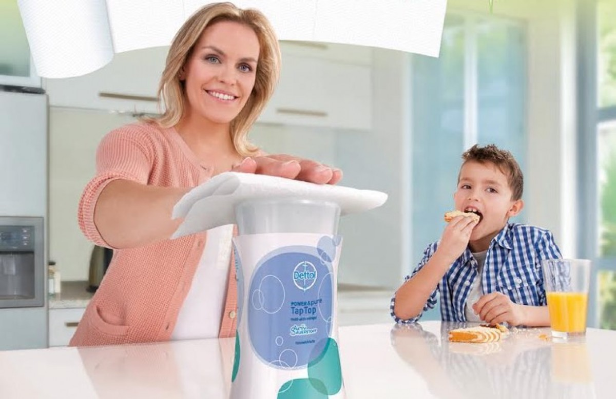 Νέο Dettol Tap Top: Πατάς και καθάρισες!