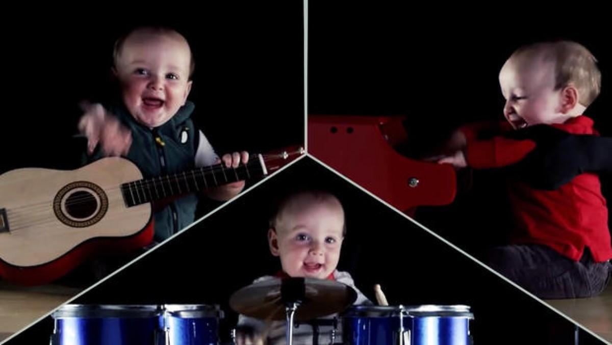 [Βίντεο] Αυτός ο μπόμπιρας έχει τη δική του μπάντα