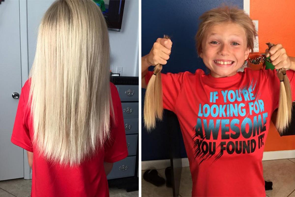 Τον κορόιδευαν 2 χρόνια για τα μακριά μαλλιά του, δεν ήξεραν όμως τι σκόπευε να κάνει μ' αυτά