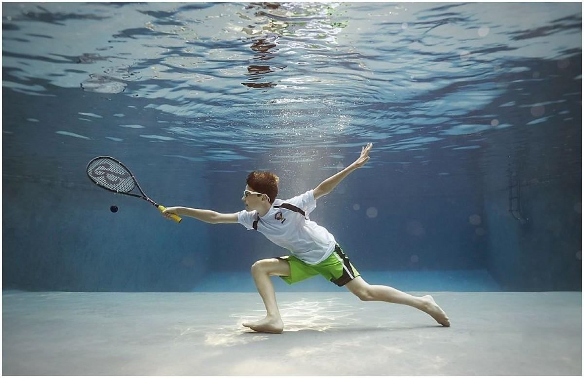 Μικροί αθλητές σε μια απίθανη υποβρύχια φωτογράφιση