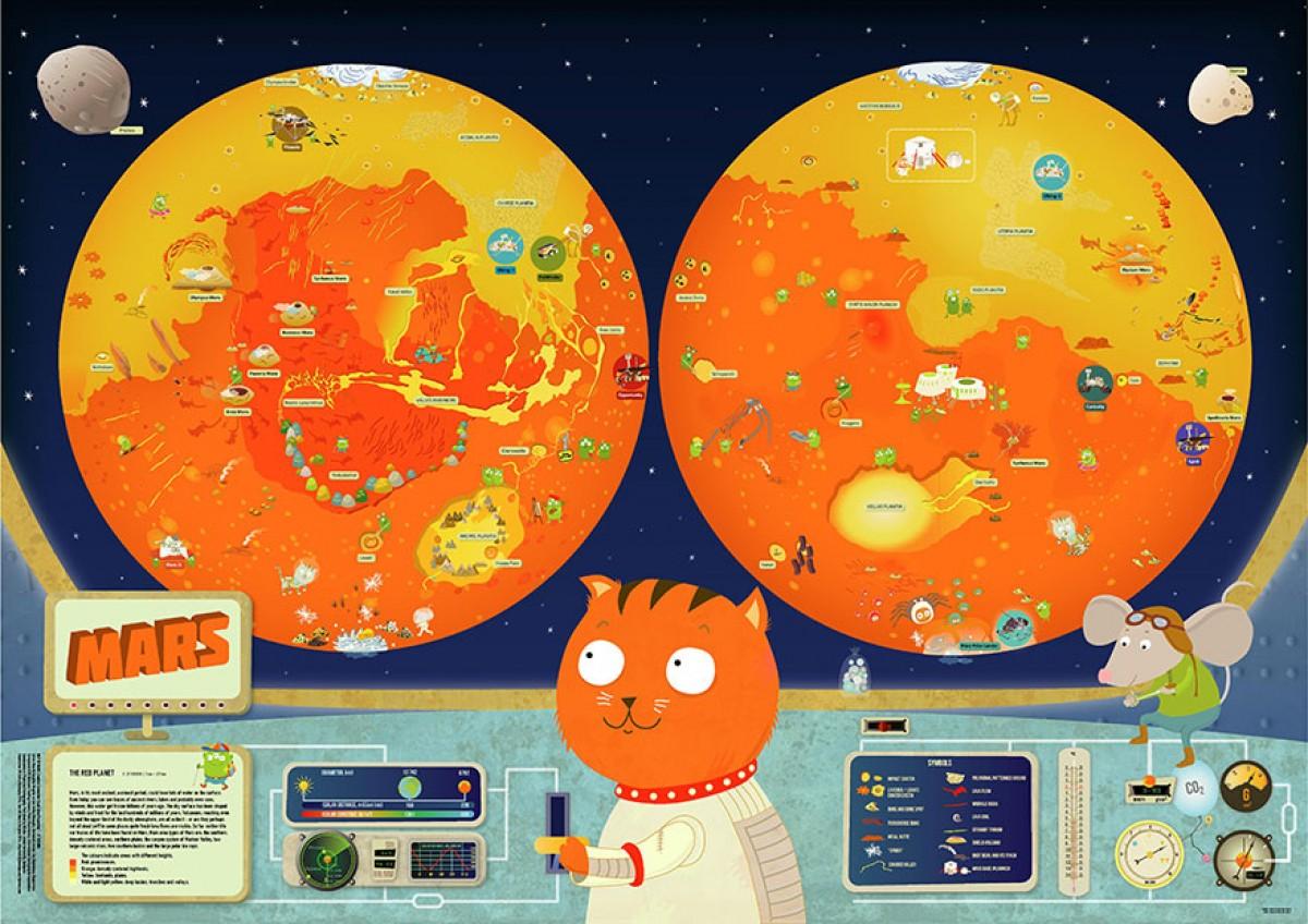 Στολίστε το δωμάτιό τους με πολύχρωμους παιδικούς χάρτες από το διάστημα